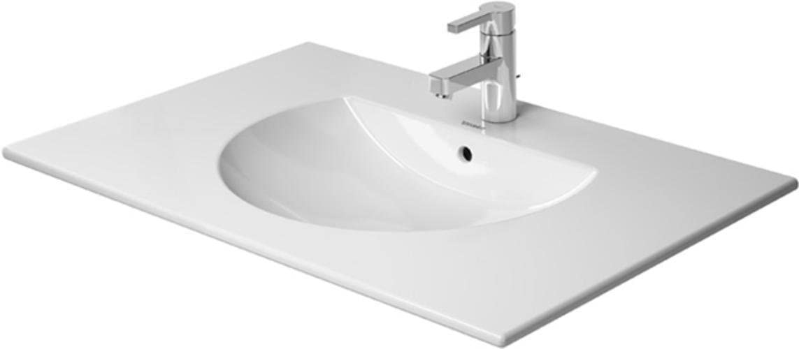 Duravit 0499830000 1 Hole Darling New Darling New Vanity Top 32 5 8 Vitreous China White With Sink 1 Or 3 Faucet Holes And Overflow 049983 Amazon Com