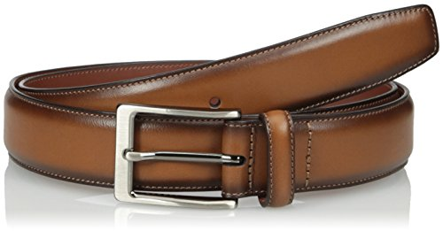 Perry Ellis Men's Perry Ellis Portfolio Men's Amigo Dress Belt, Luggage, 34 (Perry Ellis Brown Belt)