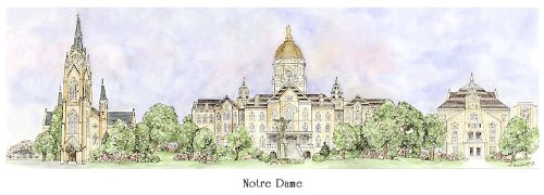 Notre Dame University - Collegiate Sculptured Ornament by Sculptured Watercolor Ornaments