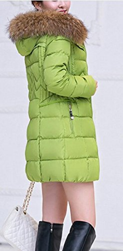 Generic Slim Length Solid Women Fur Fit Color Mid 1 Warm Collar Coat Down tHqHw