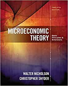 Microeconomic Theory by Nicholson Walter