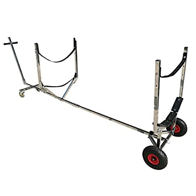 Stainless Steel Kayak Canoe Boat Launching Dolly Wheels Trailer