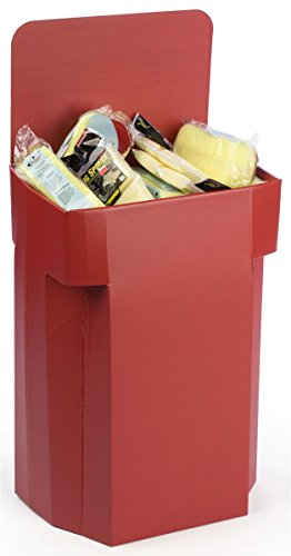 Dump Display - Set of 6, Floor-Standing Dump Bins with Removable Header, Single Compartment, 42.5