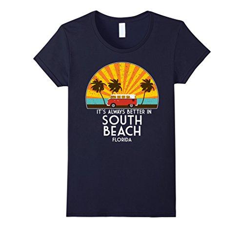 Womens South Beach T-Shirt - South Beach Gift - Florida Souvenir Medium - South Beach Women