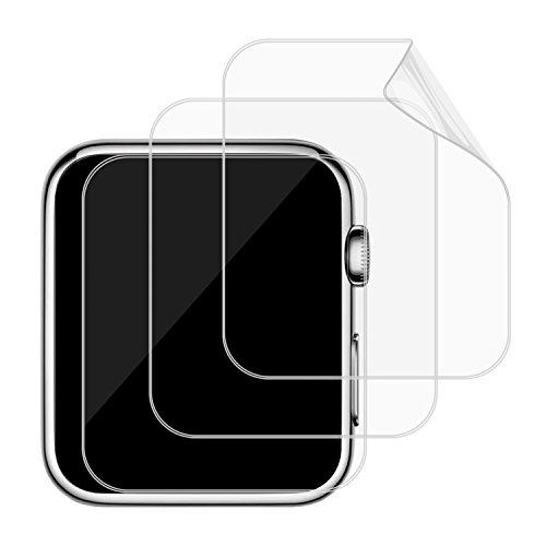 JETech 3-Pack Screen Protector for Apple Watch 42mm Series 1 2 3 Full Coverage TPE HD Film