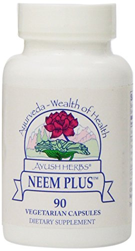 Ayush Herbs Neem Plus Herbal Supplement 90 Count