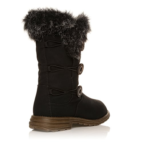 NEW ANKLE MID WOMEN 41 WINTER SIZE 8 LADIES CALF BOOTS Black 36 BOOTS 3 rAgqrw