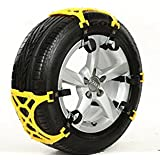 XYZCTEM Easy To Install Car Snow Tire Chains,Fits for Tire Width 165mm-265mm-Set of 6