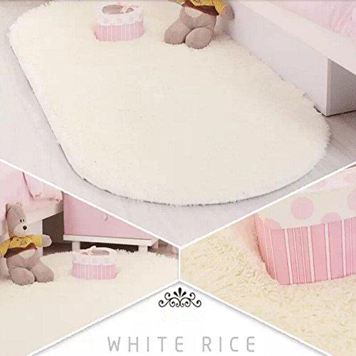 ustide oval velvet bedroom rug high pile floor runner fluffy floor carpet antislip rugs for yogasofa offwhite 31 - Fluffy Rugs