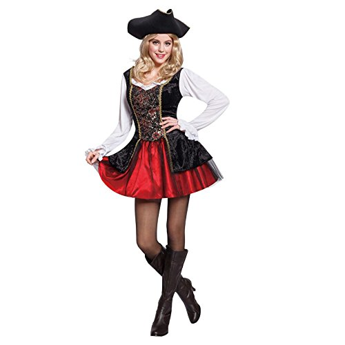 Totally Ghoul Pirate Maiden Costume, Women's one size fits (Pirate Maiden Costume)