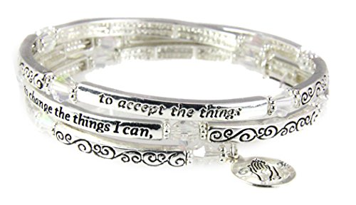 (4031299 Serenity Prayer Coil Bracelet God Grant Me the Serenity AA)