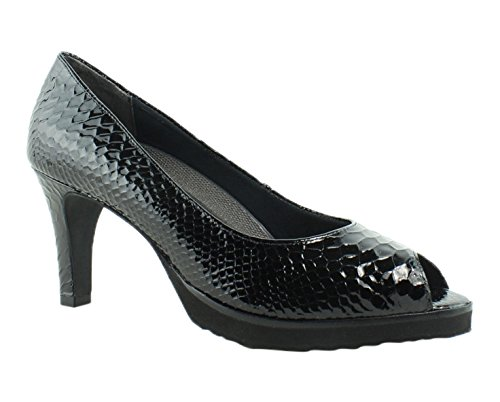 Walking Cradles Women's Tigress Dress Pump, Black Snake Print Leather, 9 M (Black Snake Print Leather)