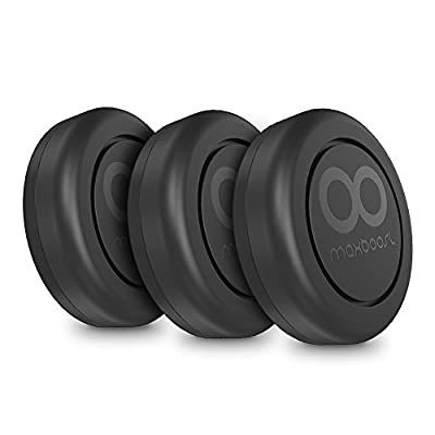 Maxboost Magnetic Car Mount, (3-Pack) Universal Flat Stick-on Dashboard Mount Holder +Metal Plate/Adhesive Sticker for Cell Phone, iPhone 7 PLUS, Galaxy s8,LG,Sony,GPS,Mini Tablet