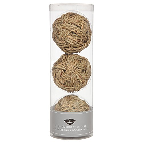 """Hosley's Set of Three Rope Orb Set, Each is 3.94"""" Diameter. Great Gift idea or use with Hosley bowls"""