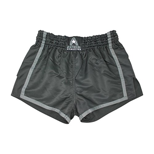 Anthem Athletics New Resolute Muay Thai Shorts - Kickboxing, Thai Boxing - Black & Grey - Medium