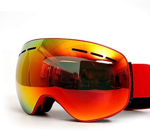FengheYQ スキーはスキーベニヤはアンチグレア冬の男性と女性のプロスキーゴーグル防風二重の保護防曇レンズをメガネゴーグル (Color : Orange)