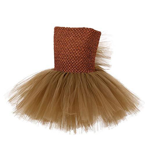 (Colorfog Girls Kids Princess Christmas Deer Costume Dress Halloween Party Cosplay Fancy Dress (Little)