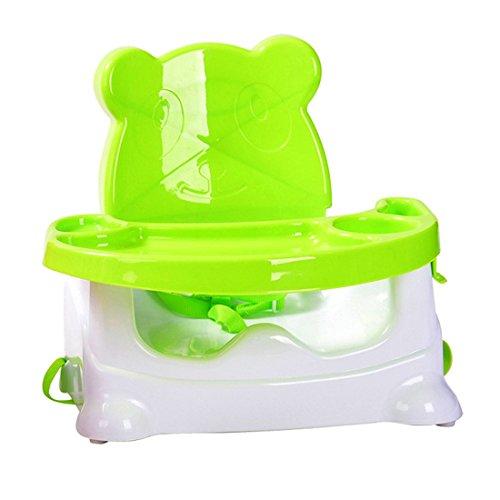 Baby Chair, Finer Shop Cartoon Bear Design Folding Baby-Zusatzsitz Dinette für Haus und Kindergarten - Grün
