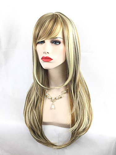 Good 2 People Costumes (Women's Beauty Fashion Longer Synthetic Curly Wigs with Free Wig Cap for Cosplay Party Costume Wig (Yellow 02))