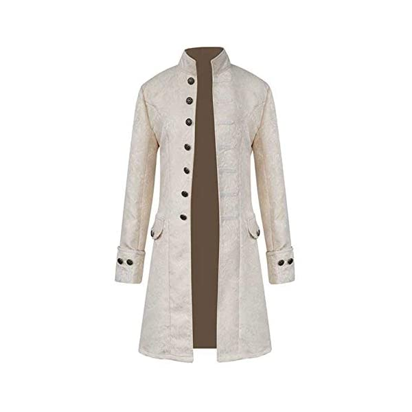 FEITONG Men's Winter Warm Steampunk Vintage Tailcoat Jacket Overcoat Outwear Buttons Coat 4