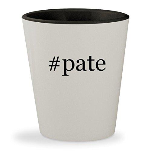 #pate - Hashtag White Outer & Black Inner Ceramic 1.5oz Shot Glass Smoked Foie Gras