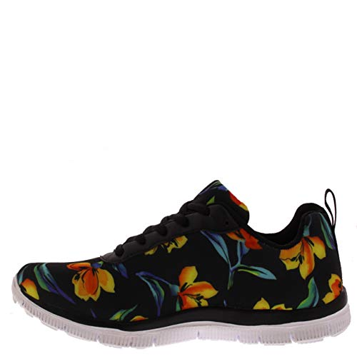 Correrening floral Atletico Sport Mesh Fit Scarpe Correr Donna Go Get Nero Palestra wHA66I