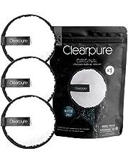 Cleapure Afschminkpads, wasbaar, 3-delige set, wasbare make-uppads voor het gezicht, herbruikbaar, zachte reiniging met water, ook voor de gevoelige huid, make-up remover