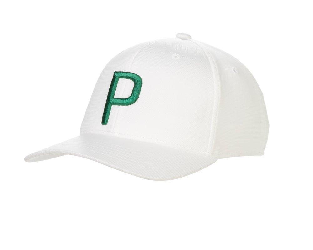 Puma Golf 2018 ''P'' Snapback Hat (Bright White-Green, One Size)