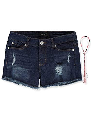 DKNY Girls' Big Rip and Repair Denim Short, Navy Dream 7