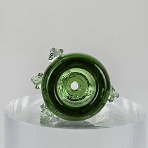 Z-Ran Dragon Claw Design Glass Holder Herb Bowl 1 Piece Green,18 mm