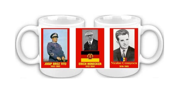 Mariscal Tito Honecker Ceausescu DDR Souvenir taza de café: Amazon.es: Hogar