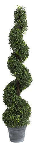 A&B Home 29287 Spiral Boxwood Artificial Topiary Tree, 48...