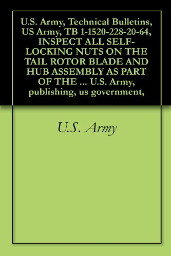 (U.S. Army, Technical Bulletins, US Army, TB 1-1520-228-20-64, INSPECT ALL SELF-LOCKING NUTS ON THE TAIL ROTOR BLADE AND HUB ASSEMBLY AS PART OF THE MAINTENANCE ... U.S. Army, publishing, us government,)