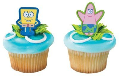 Spongebob & Patrick Cupcake Clips]()