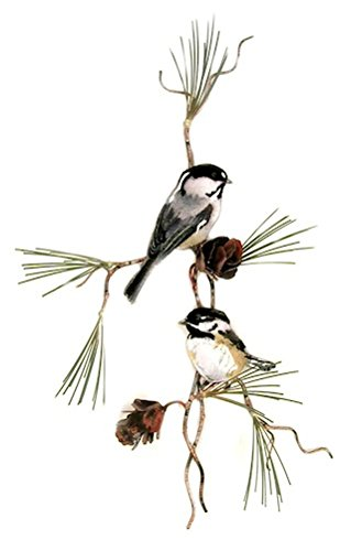Bovano - Wall Sculpture - Chickadees with 3D Pine (Bovano Wall Sculpture)