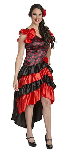 Palamon Women's Spaniard Costume, Red, X-Large