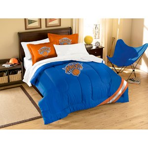 The Northwest Company Officially Licensed NBA New York Knicks Twin/Full Size Comforter with Sham - Knicks Set New York