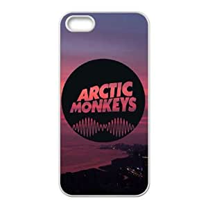iphone5 5s case , Arctic Monkeys iphone5 5s Cell phone case White-YYTFG-17924