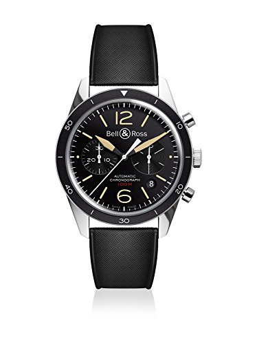 Bell-and-Ross-Vintage-Sport-Heritage-Black-Dial-Automatic-Mens-Watch-BRV126-ST-HER-SRB