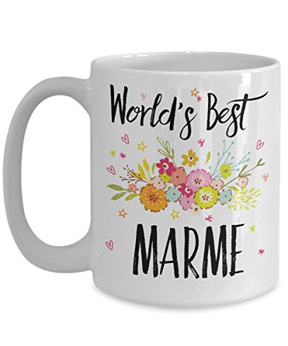 Marme Mug - World's Best Marme - Best Marme Ever - A Thank You Or Appreciation Gift - Coffee Cup In 11oz Or 15oz Sizes