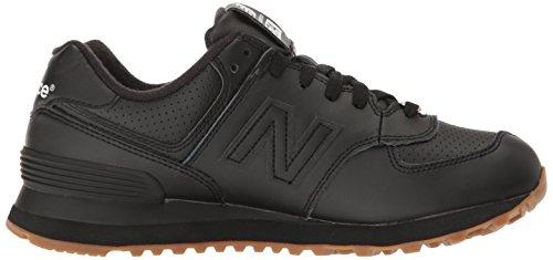 New Balance Mens 574 Lifestyle Fashion Sneaker Nero / Argento