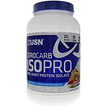 USN Zero Carb ISOPRO 100% Whey Protein Isolate Apple Pie, For Rapid Protein Uptake Without the Carbs 1.65lbs
