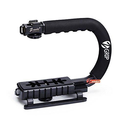 Zeadio Berufs Aktion Stabilisator Griff mit Zubehörschuh für Canon Nikon Sony DSLR Camcorder Kamera DV