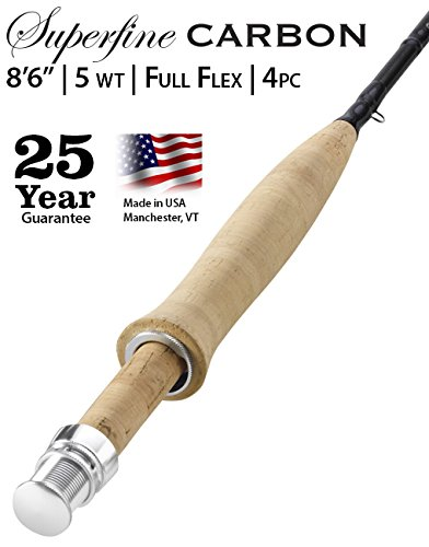 Orvis Superfine Carbon Fly Rod - 5 weight, 8' 6'' Full Flex with Free $40 Gift Card