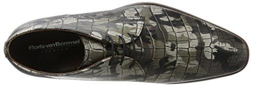van Floris Bommel Uomo Floris 20024 van Stringate grigio Scarpe xZ65wTB