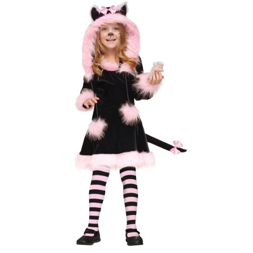 Black Cat Halloween Costume Ideas (Fun World Costumes Baby Girl's Pretty Kitty Toddler Costume, Black/Pink, Large 4-6)