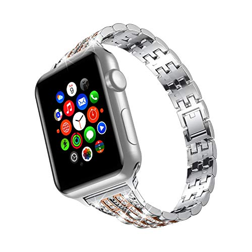 wootfairy Compatible with Apple Watch 38mm 42mm Stainless Steel Wristband Metal Buckle Clasp iWatch 40mm 44mm Strap Bracelet for Apple Watch Series SE/6/5/4/3/2/1