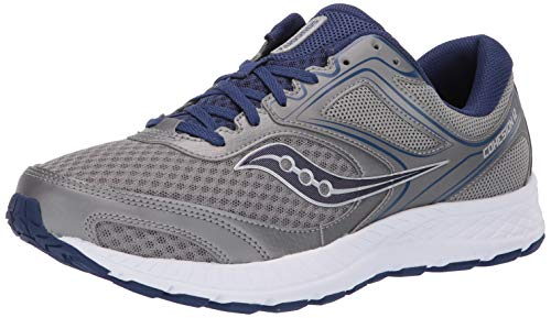 Saucony Men's VERSAFOAM Cohesion 12 Road Running Shoe, Grey/Blue, 10.5 M US ()