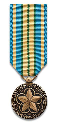 Military Outstanding Volunteer Service mini-Medal, mirror finish