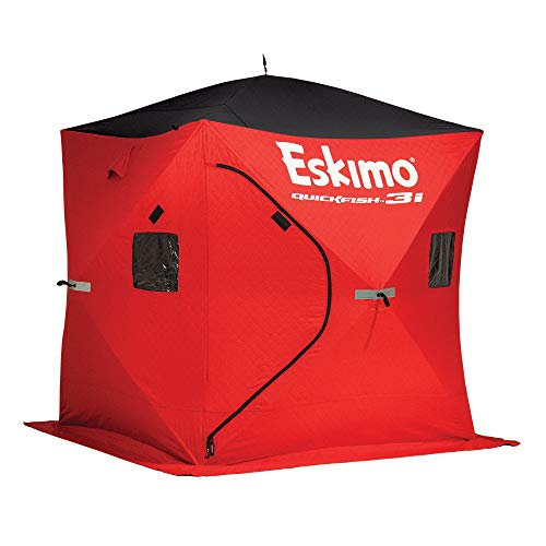 Eskimo Quickfish 69445 Quickfish 3I Insulated Pop-Up Portable Ice Shelter, 3 Person